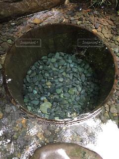 水を入れたボウルの写真・画像素材[1589309]