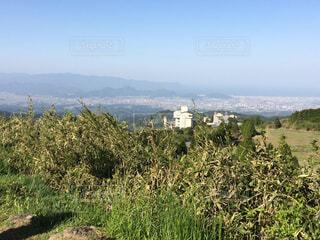 丘の上から見た自然の写真・画像素材[2310234]