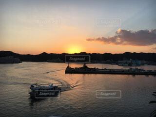 和歌山県 勝浦湾の夕景の写真・画像素材[1587800]