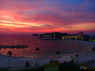 白良浜の夕暮れの写真・画像素材[1706420]
