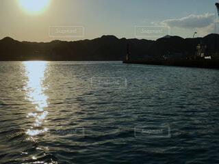 勝浦港の夕暮れの写真・画像素材[1809520]