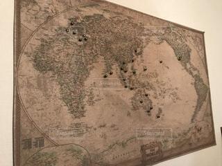 レトロな世界地図の写真・画像素材[1586455]