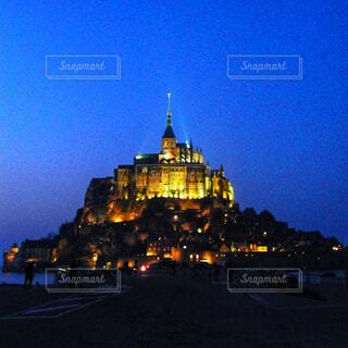 モン ・ サン ・ ミシェルの夕焼けの写真・画像素材[1593518]