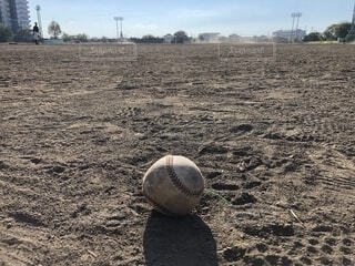 野球ボールのアップ画像の写真・画像素材[1593907]
