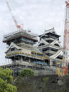 復興中の熊本城の写真・画像素材[2096159]