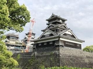 復興中の熊本城の写真・画像素材[2096160]