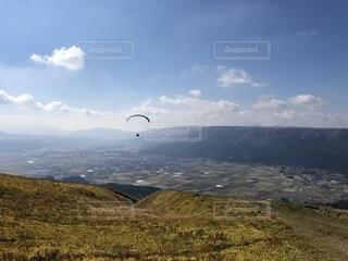 阿蘇の山々と空の写真・画像素材[1593010]