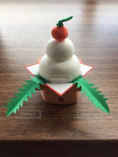 手作り鏡餅〜紙粘土版〜の写真・画像素材[1598435]