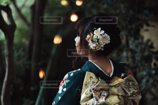 着物女子の写真・画像素材[1597532]