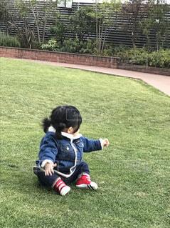 芝生気持ち〜いの写真・画像素材[1601976]
