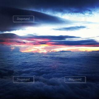 富士山から見た夕日の写真・画像素材[784244]