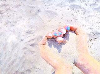 砂浜とハートの写真・画像素材[793554]