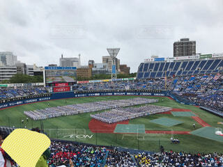 雨の開会式の写真・画像素材[2273346]