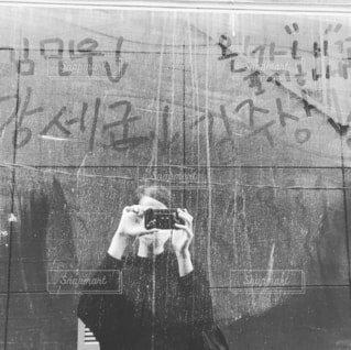 ソウルにある建物の壁の写真・画像素材[1600356]