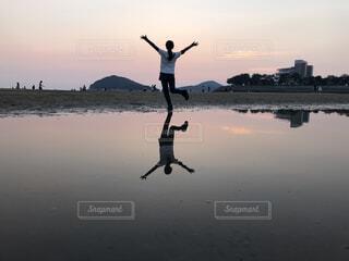 ウユニ塩湖気取りの写真・画像素材[1600511]