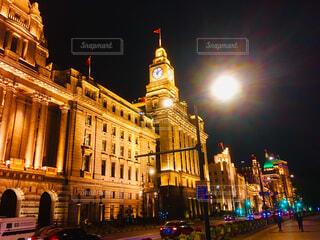 上海時計台のライトアップの写真・画像素材[1626060]