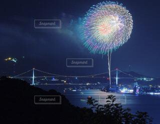 夜空の花火の写真・画像素材[1601387]