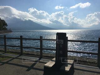 支笏湖の水面の写真・画像素材[1602339]