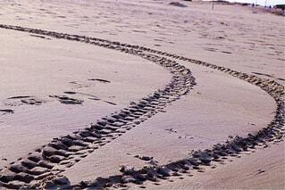 砂浜でアートの写真・画像素材[1694356]