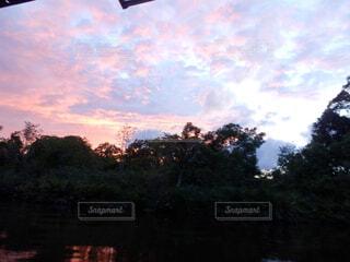 夕暮れ時の景色の写真・画像素材[1602015]