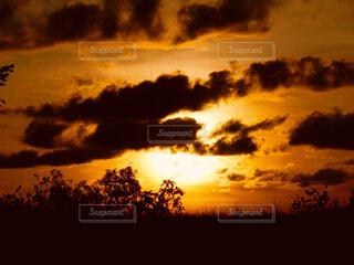 夕焼け空に浮かぶ雲の写真・画像素材[1616556]