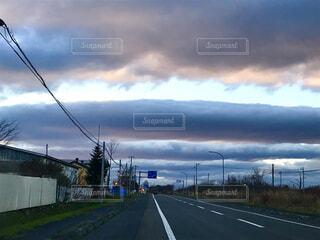 くるくる雲の写真・画像素材[1660721]
