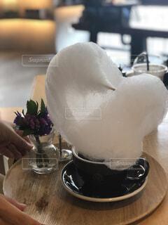 コーヒー 綿菓子のせの写真・画像素材[1645430]