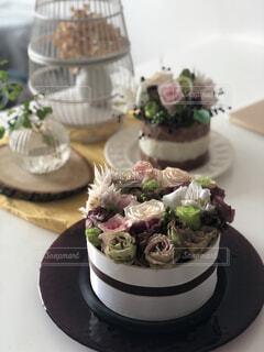 ケーキのようなお花たちの写真・画像素材[2447542]