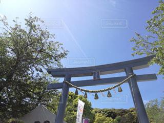 鳥居と青空の写真・画像素材[1605903]