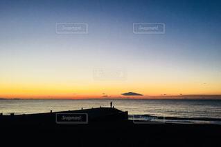 太平洋からの日の出の写真・画像素材[902214]