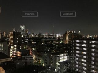 東京の夜景・マンションとビルの写真・画像素材[1613249]