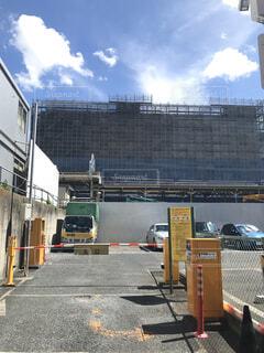 建設中の板橋駅の駅ビルの写真・画像素材[1613554]