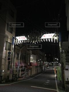 夜の商店街〜滝野川市場通り〜の写真・画像素材[1620794]