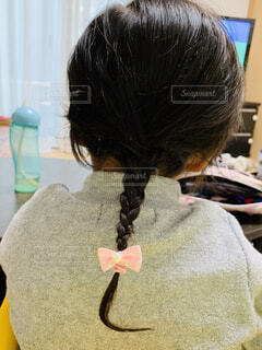 三つ編みの女の子の写真・画像素材[1782672]