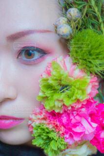 近くの花のアップの写真・画像素材[1706658]