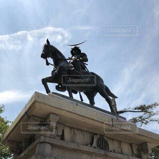 馬に乗る人の像 伊達政宗の写真・画像素材[1616582]
