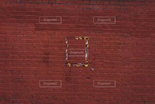 レンガの壁のアップの写真・画像素材[1618837]