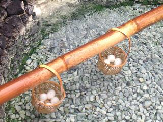 温泉卵の写真・画像素材[1629709]