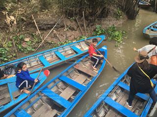 ベトナム、で移動に使ったボートの写真・画像素材[1647938]