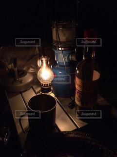 キャンプの夜の写真・画像素材[56656]