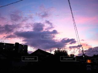 日没時の空の写真・画像素材[3289129]
