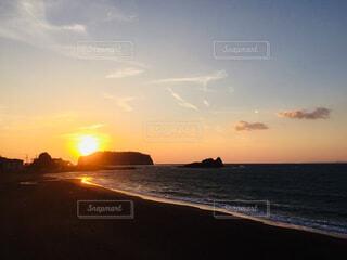 南房総の夕陽の写真・画像素材[1634208]