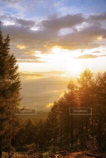 甘利山×日の出×雲海の写真・画像素材[1643781]