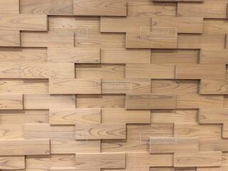 レンガ風の木材タイルの写真・画像素材[2115985]