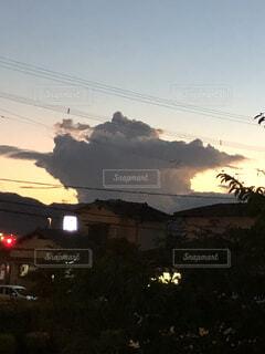 変な雲の写真・画像素材[1634197]