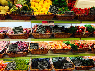 フランスのスーパーの写真・画像素材[1632931]