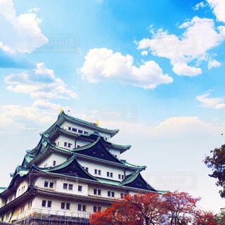 秋空と名古屋城の写真・画像素材[1636199]