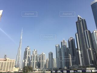 ドバイの超高層ビル群の写真・画像素材[1636972]
