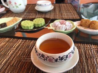 台湾茶とおかしの写真・画像素材[1637431]