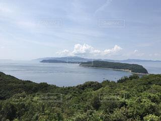 加太から望む友ヶ島の写真・画像素材[2020586]